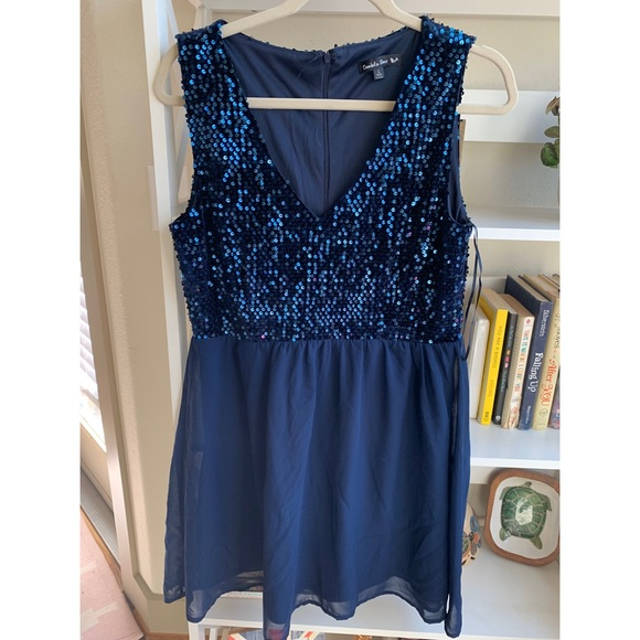 Double Zero Dresses & Skirts - Altar'd State Blue Sequined cocktail dress
